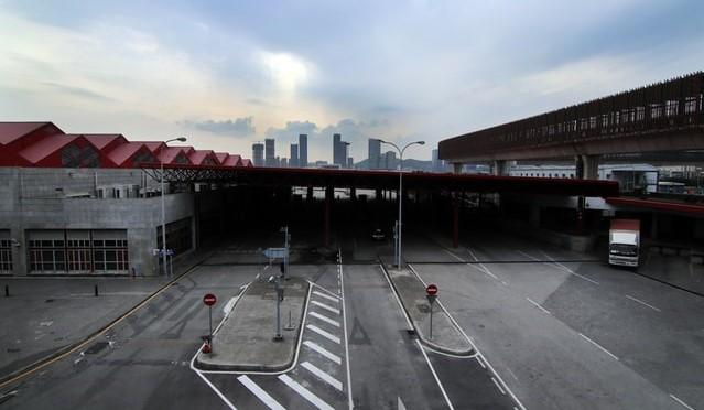Tyhjä lentokenttä Kiinassa